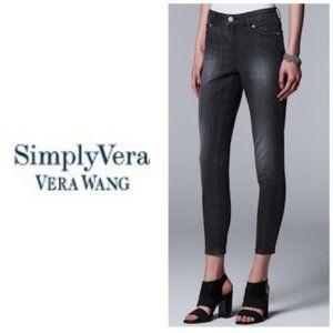 Simply Vera Wang Gray Ankle Skinny Jeans Sz 14 NWT